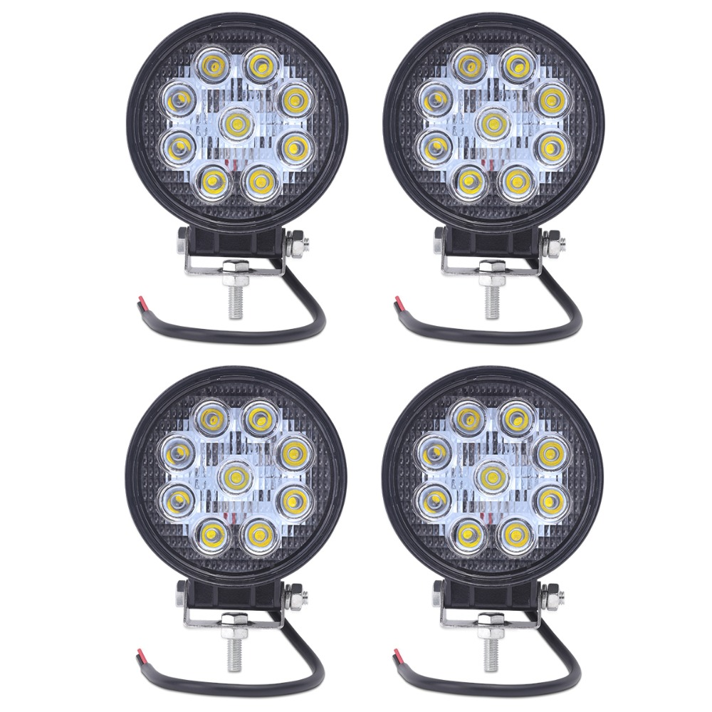 4pcs 27w 4 Inch led worklight flood/spot beam for choice auto led work lights 9pcs*3w Epistar 12 volt led work lights(China (Mainland))