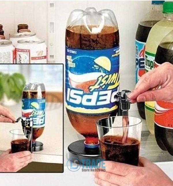 Novelty Households Portable Bar Kitchen Drinking Soda Water Coca Coke Fizz Gadget Saver Dispenser(China (Mainland))