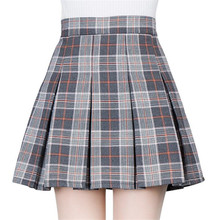 Buy 2017 autumn winter fashion female plaid Pleated skirts retro waist girls skirts hot skirt england style warm england MINI skirts for $13.99 in AliExpress store