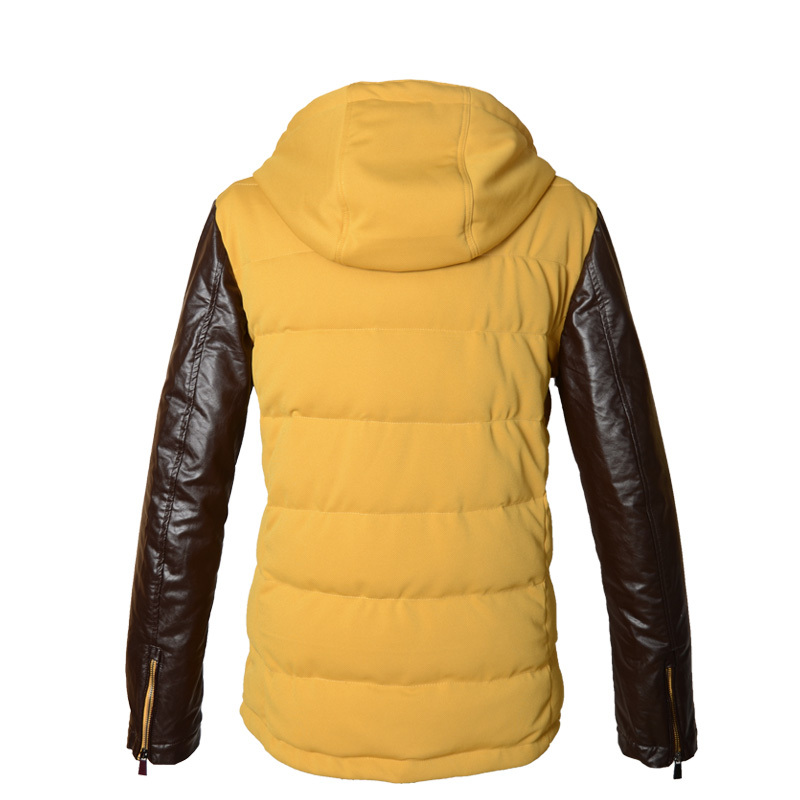 Fashion Viishow Yellow Solid Duck Down Jacket Men Parkas Outdoor Hood Warm Windproof Winter Jacket Men