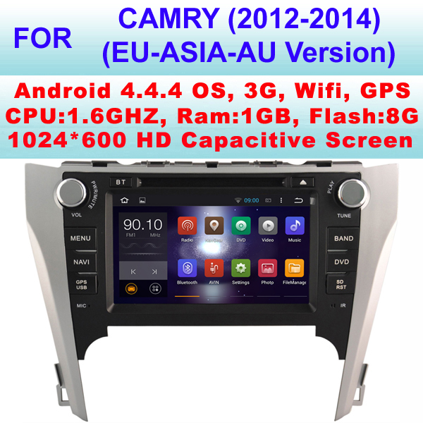 Car DVD Android For Toyota Camry Car stereo (2012-2014) With Android 4.4.4,Support Android Apps Installation,Pixel 1024*600(China (Mainland))
