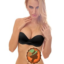 Brand New Women's Invisible Self-Adhesive Backless Pump Air Pad Strapless Push Up Bra Black Beige