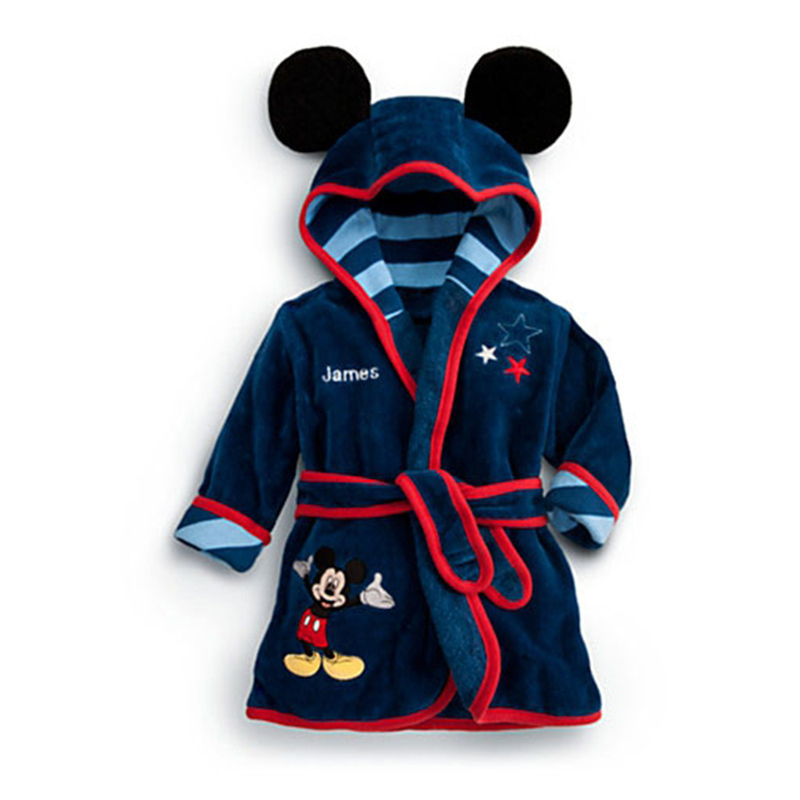 bathrobe children kids robe girls soft children's bath robe boys hooded bathrobe cartoon robes kids clothes roupao customized(China (Mainland))