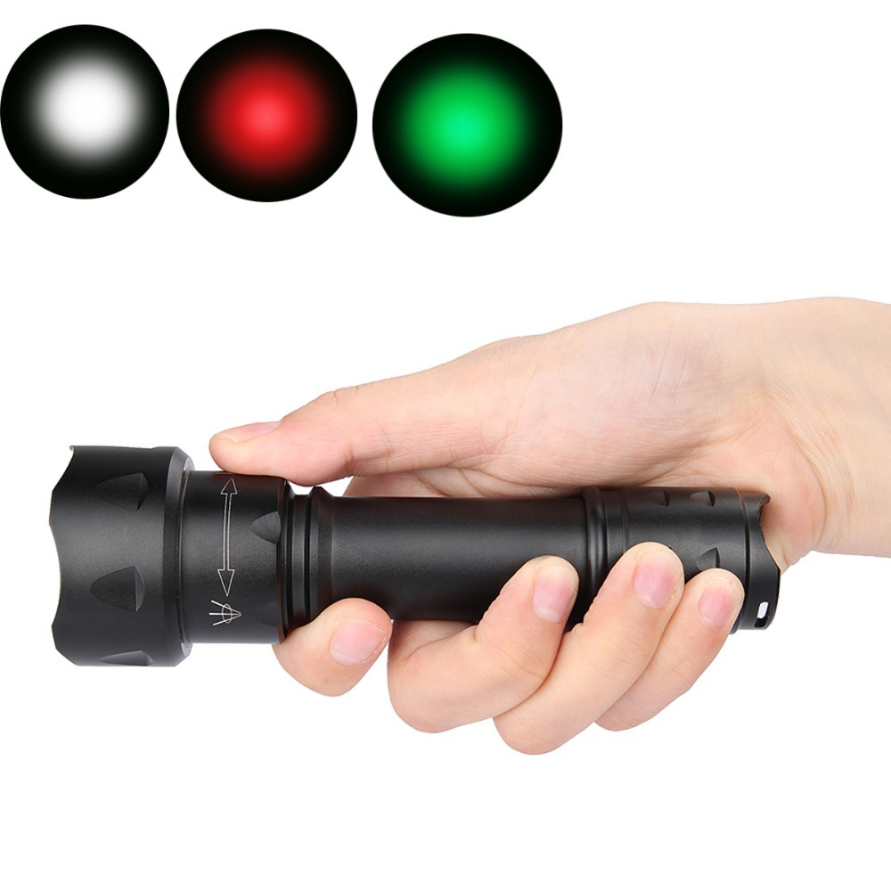 New Uniquefire Mini Single File UF-T20 XP-E Green / Red LED Focus Flashlight Torche Zoomable 38mm Aspherical Lens  Light Lamp<br><br>Aliexpress