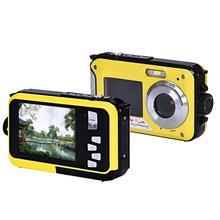 Double Screen Waterproof Camera 24MP 16x Digital Camera Zoom Dive Camera DEC15(China (Mainland))