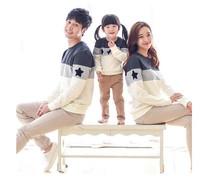 Новая Коллекция Весна и Осень семья одежда весна Отец Матери baby дети Семьи Соответствующие Наряды Хлопка с длинными рукавами свитер футболка(China (Mainland))