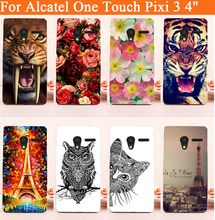 hot diy Painted Hard Cover Case For Alcatel One Touch Pixi 3 4.0″ 4013 4050 4013X 4013D 4050X 4050D Phone Cases Free Shipping
