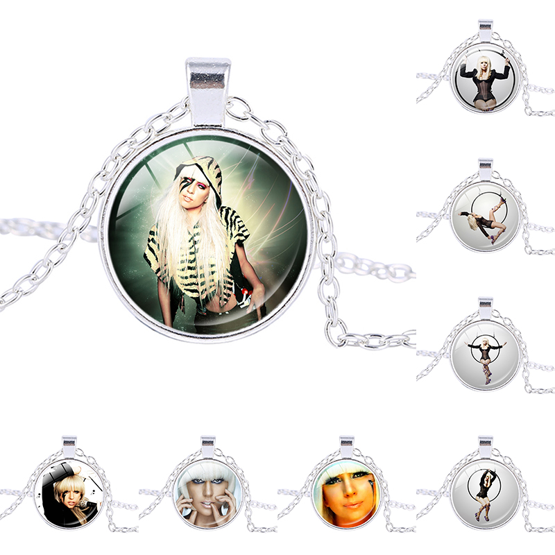 Lady Gaga picture charm necklace Mother Monster pendant Jo Calderone personalized bridesmaid gifts Women Fashion Jewelry(China (Mainland))