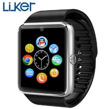 Liuker GT08 смарт часы часы синхронизации Notifier поддержка Sim карты Bluetooth подключения для iphone Android телефон Smartwatch часы