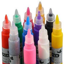 Buy 1set 12 Colors Professional Beautiful 3D Nail Art Paint Drawing Pen Acrylic Nail Art Polish Carved Pen Kit Set DIY nail tools for $7.19 in AliExpress store