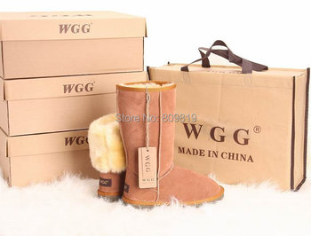 Hot Selling Fashion  High Quality WGG Brand  genuine leather   fur Warm Winter Snow Boots plus size woman 5-11SIZE
