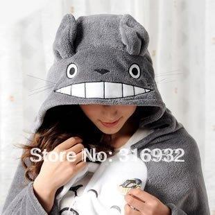 K1 My Neighbor Totoro Lovely Plush Soft Blanket Cloak, 1pc