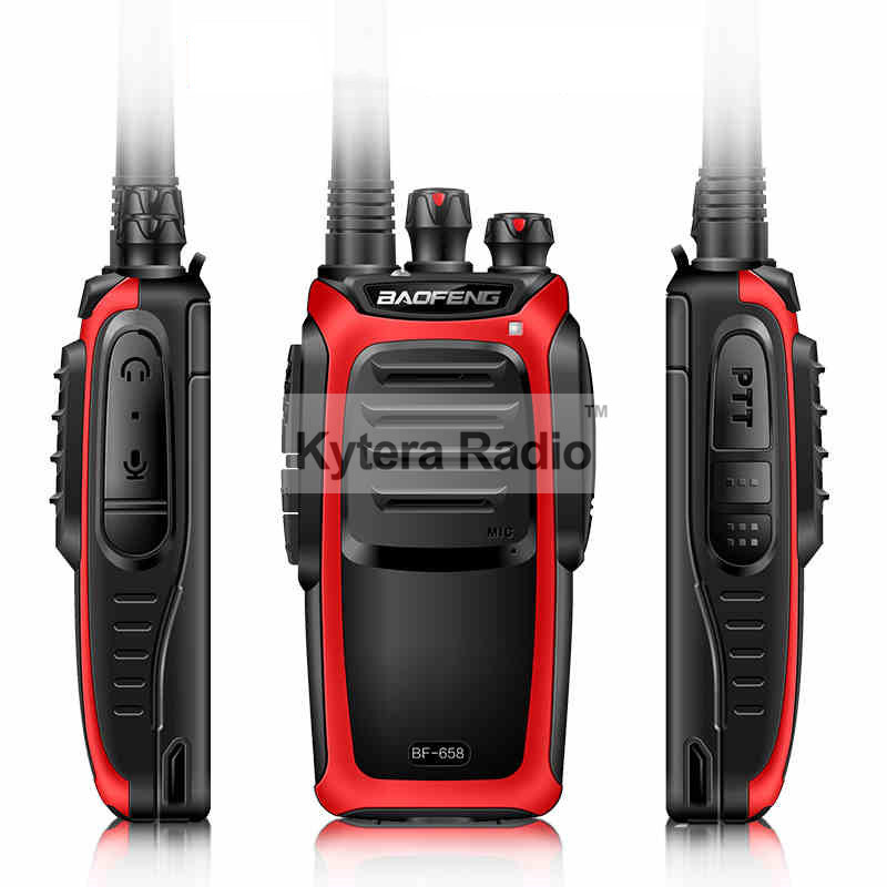 New Baofeng BF-658 Professional Walkie Talkie High Power UHF 400-470MHz Portable Two Way Radio Push To Talk PTT With Flashlight(China (Mainland))