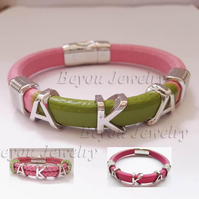 customized   Alpha style Jewelry gift  Alpha Kap  Alpha Sorority divine Fraternity  leather magnetic  bracelet bangle<br><br>Aliexpress