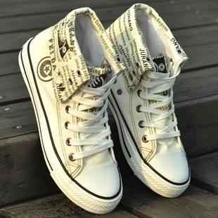 Men's skateboarding shoes high canvas shoes male shoes high breathable canvas shoes male