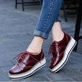 2017 New Women Shoes Flat casual shoes black white wine red Platform shoes fashion thick bottom