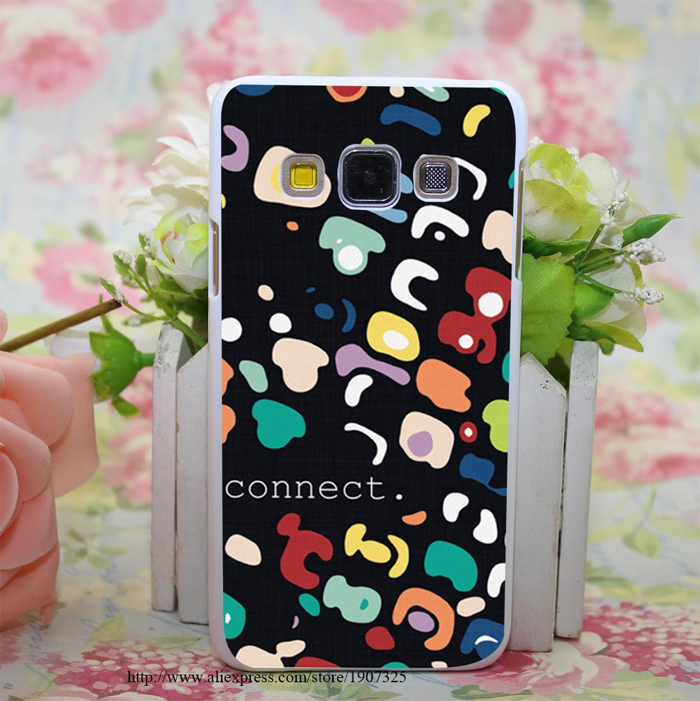 Connect Style Hard White Case Cover for Samsung Galaxy A3 A5 A7 A8 Note 2 3 4 5(China (Mainland))