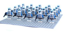 Buy 20pcs/lot Star Wars 501st LEGION TROOPER blue clone Trooper solider 6pcs weapons compatible legao Building block Kids toys for $18.98 in AliExpress store