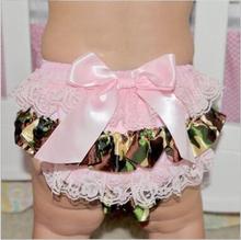 Baby Girl Bloomers Diaper Cover Bow-knot Newborn Tutu Ruffle Panties Baby Girls Ruffle Lace Baby Short(China (Mainland))