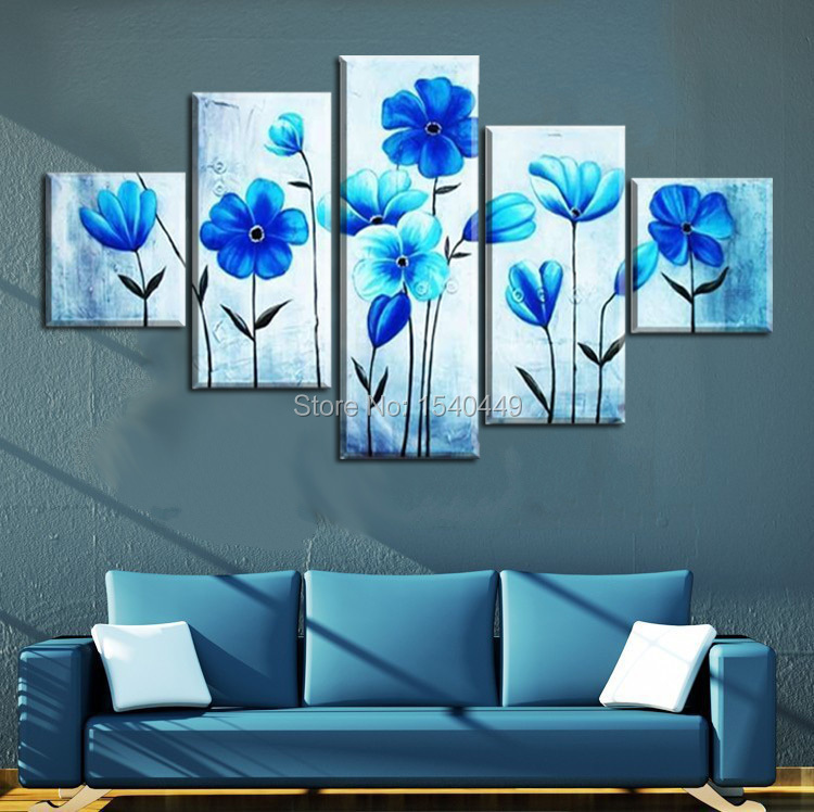 bleu fleur peinture promotion achetez des bleu fleur peinture promotionnels sur. Black Bedroom Furniture Sets. Home Design Ideas