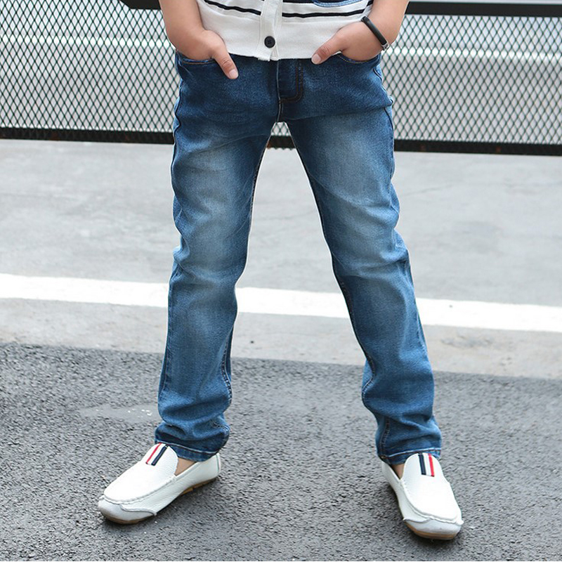 2016 New Solid Mid Jeans Kids Rushed Summer Light-colored Boys Jeans Children Trousers Korean Version Of The Spring(China (Mainland))
