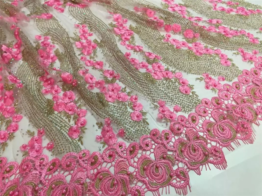 2016 Latest Teal African French Lace Fabric High Quality African Tulle Lace Fabric For Wedding guipure lace chemical lace fabric(China (Mainland))