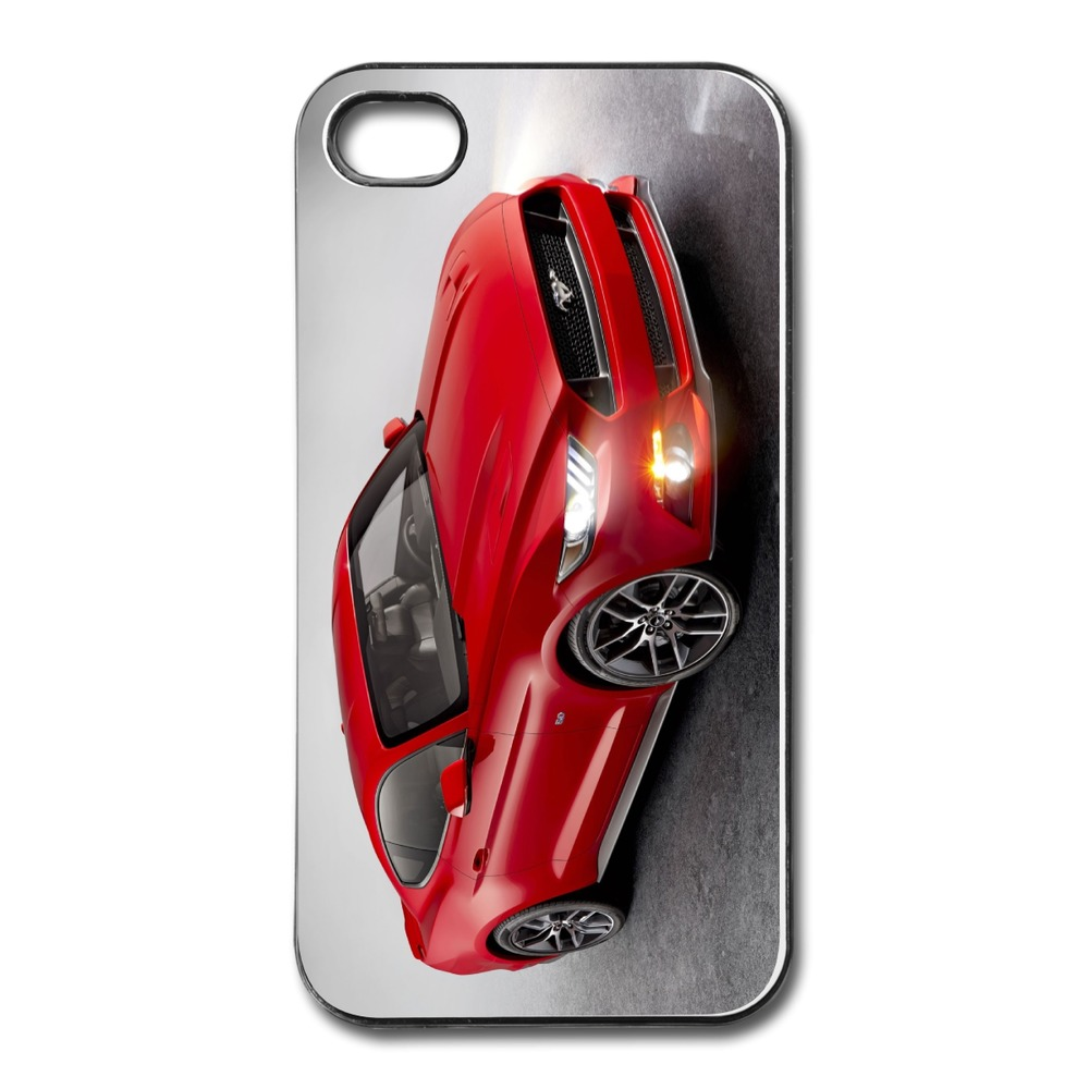 Customize Case For Iphone 4 4s Red Mustang Geek Picture 4s Cases Plastic Cover(China (Mainland))