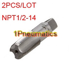 product Free Shipping 2PCS/LOT Thread Pipe Taps NPT 1/2-14 TPI Tap Threading Tools High Quality
