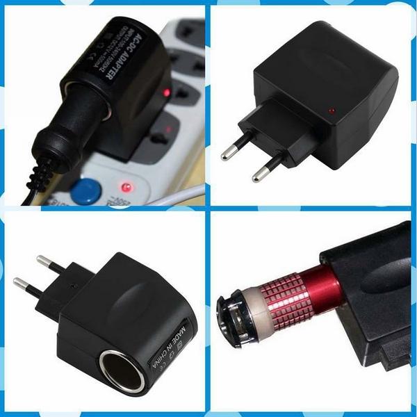 110V-240V AC to 12V DC EU plug Car Cigarette Power Adapter Converter Wholesale(China (Mainland))