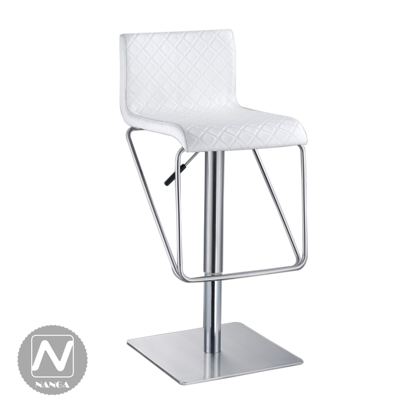 National minimalist stainless steel bar lift rotating stool reception counter stools leather chair<br>