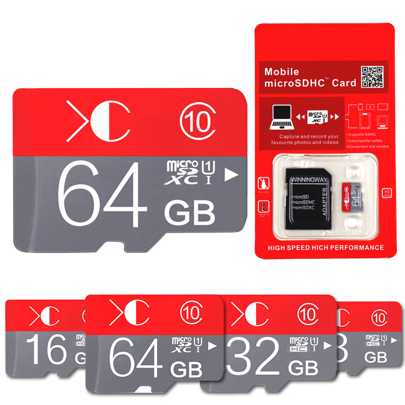 100% Real Capacity Memory Card TF/ Mini SD Card With Adapter Reader Class 10 SDXC 4GB 8GB 16GB 32GB 64GB Super Compatible(China (Mainland))