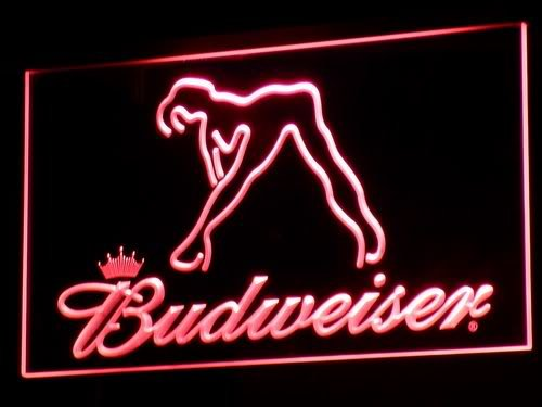 a133 Budweiser Exotic Dancer Stripper Bar LED Neon Sign with On/Off Switch 7 Colors to choose sent in 24 hrs(China (Mainland))