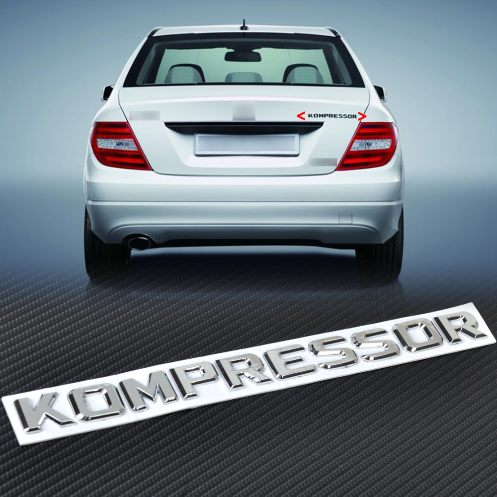 New 3d chrome kompressor badge emblem sticker for mercedes for Mercedes benz decal