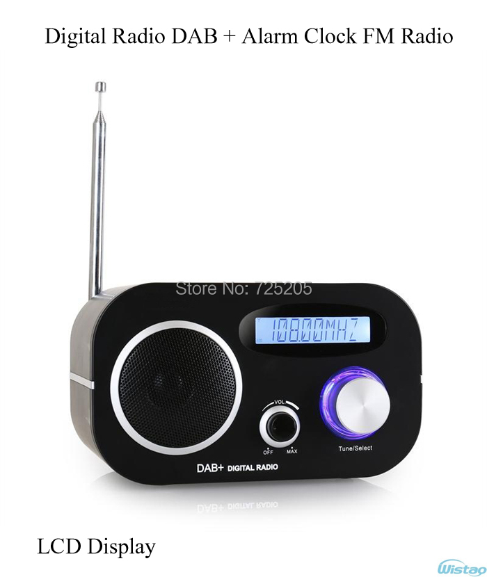 DAB + Digital Radio Alarm Clock FM Radios LCD Display Automatic Search Station Time and Date Display1.5W RMS Free Shipping(China (Mainland))