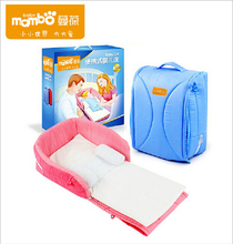 C20001 Portable baby crib 2 in1 multifunction baby products Newborn infant safety folding bed cot playpens child comfort station(China (Mainland))