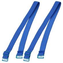5 Pack Blue Elastic Fabric Metal Hook End Bra Straps Pair for Ladies