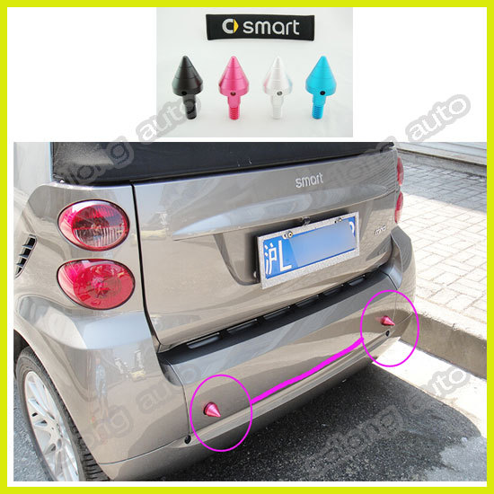 free shipping for mercedes benz smart fortwo Anti-theft hole protecter car stickers rear bumper cover accessories auto part 2pcs(China (Mainland))