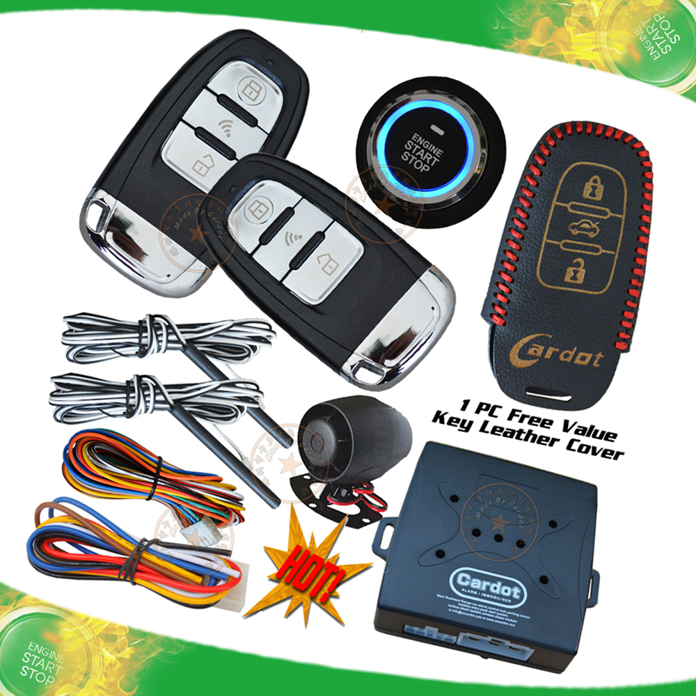 NEW! Smart keyless entry,remote start/stop ignition button start RF remote start/stop auto central lock remote trunk release(China (Mainland))