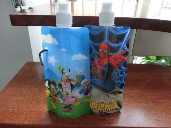 30pieces/lot Travel Portable Folding water bag foldable water bottle ice pack liquid bottle bags 10(China (Mainland))