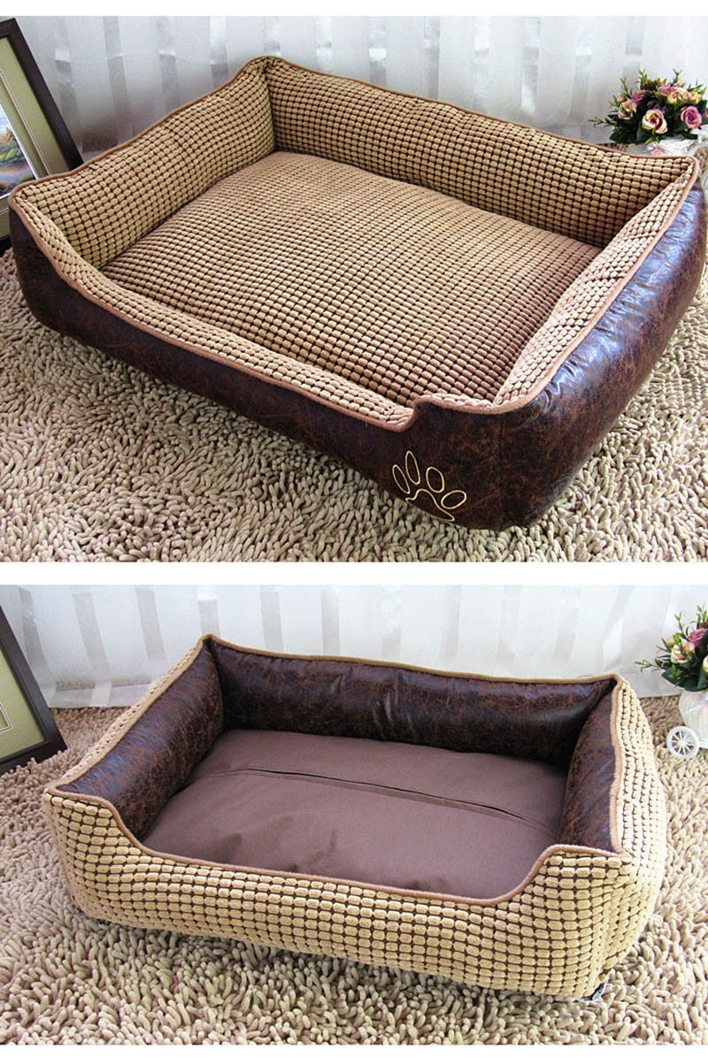 Large Dog Bed Mat Cushion Washable Warm Soft Fleece Pet House Kennel Cushion Luxury Sofa Bed Pet Products PT0027 (4)