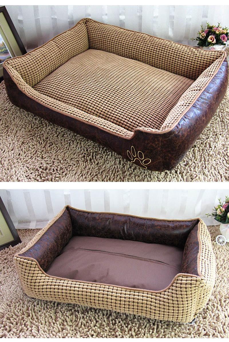Large Dog Bed Mat Cushion Washable Warm Soft Fleece Pet House Kennel Cushion Luxury Sofa Bed Pet Products PT0027 (4)