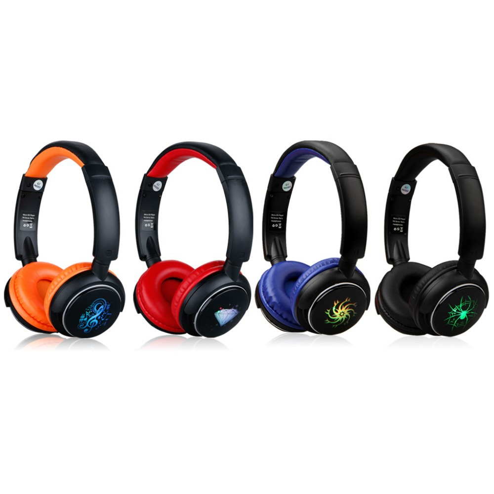 Excelvan HD Bluetooth 3.0 Stereo Wireless Headphone LED Headset With Mic Hands-free Calling(China (Mainland))