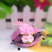 1pc New Party Small Fur Hat Flower Yarn Hairpins Kids Accessories Children Accessories Baby Hair Accessories