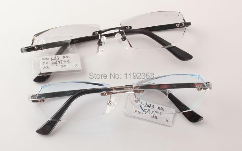Aspheric prescription lenses men elegant shape titanium rimless eyewear glassesОдежда и ак�е��уары<br><br><br>Aliexpress