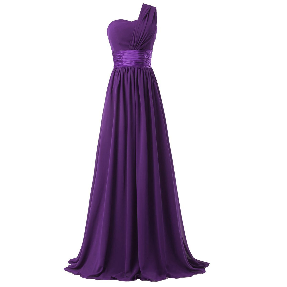 Women royal blue purple long bridesmaid dress new one for Purple long dress for wedding