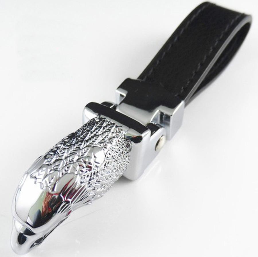 Eagle head leather car Turbine Automobile Men's waist buckle key chain Key Chain Keychain Ring Keybob(China (Mainland))