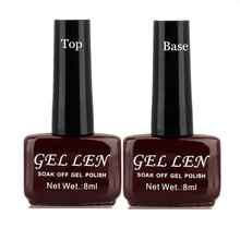 2Pcs/Lot Gel Len Nail Gel Top Coat Top it off + Base Primer Coat Foundation for UV Gel Nail Polish Hot