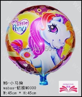 New arrive wholesales 18 inch little Pony  foil Balloon cartoon children toy balloons Festival decoration balloon 50pcs per lot<br><br>Aliexpress