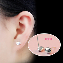 Silver Plated Alloy Anime Robot Stud Earrings Fashion Jewelry For Women Piercing Earring Accessories Brincos Aretes E0014