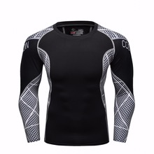Buy Mens Compression T-shirt Bodybuilding Skin Tight Long Sleeves Jerseys Clothings MMA Crossfit Exercise Workout Fitness Sportswear for $11.57 in AliExpress store